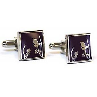 Tyler and Tyler Spring Cufflinks - Purple