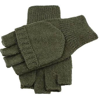 Dents Knitted Capmitt Shooting Gloves - Olive
