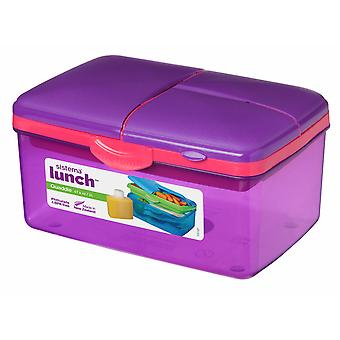 Sistema Large Purple Quaddie Lunch Box 2 Ltr