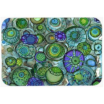 Abstract in Blues and Greens Kitchen or Bath Mat 20x30