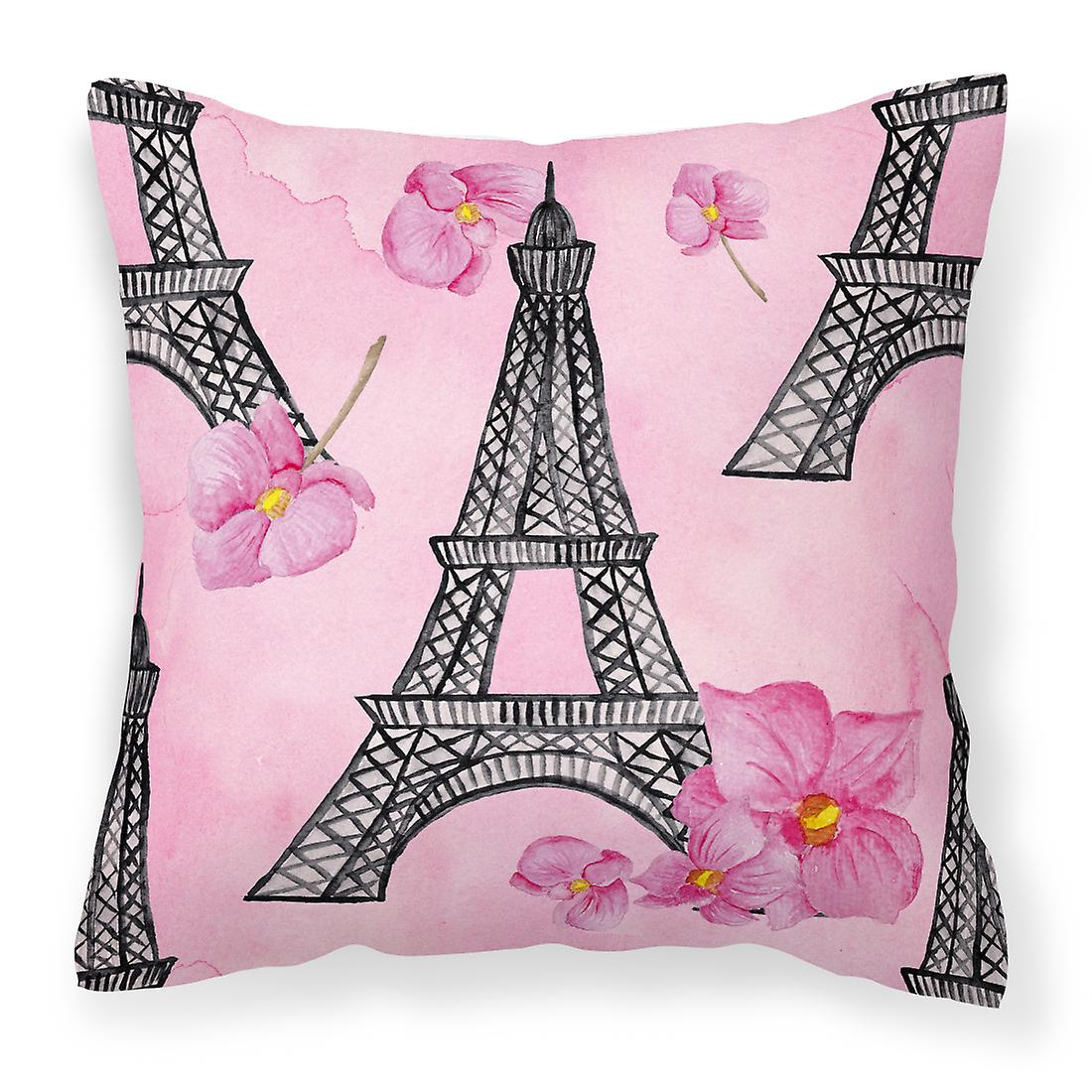 Aquarelles Et Roses Eiffel Oreiller Fleurs Tissu Décoratif Tour OTwPkZulXi