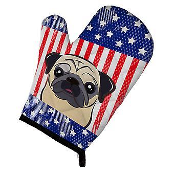 Carolines skatter BB2192OVMT amerikansk flagg og Fawn Pug ovnen Mitt