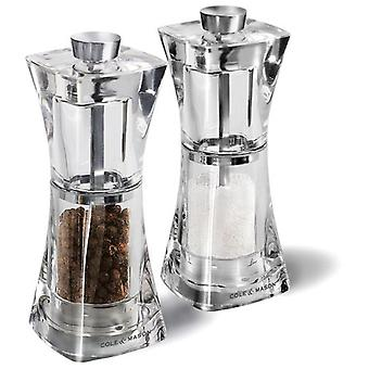 Cole & mason Crystal Gift Set Pepper Grinders And Salt Precision