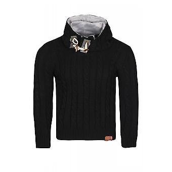 Tazzio fashion sweater mens knit pullover black Hoodie