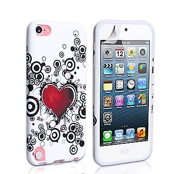 Yousave Accessories Ipod Touch 5G Heart Gel Case - Red