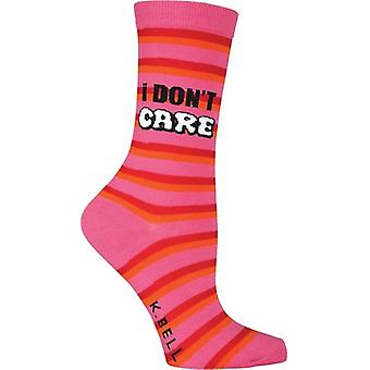 Novelty Crew Socks-I Don't Care NOVSOCKS-7H011