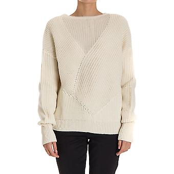 Pinko women's EREAZ06 white wool sweater