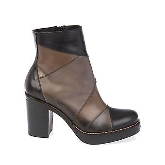 Donnapiu' women's 9880NERO black leather ankle boots