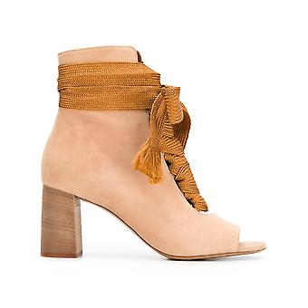 Chloé ladies CH28351E01IA345 beige leather ankle boots
