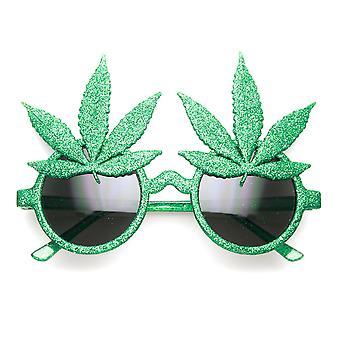 Marihuana blad Ganja Bud Pot Weed sjov nyhed Party solbriller