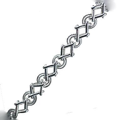 Silver fancy handmade Bracelet Chain seven and a half inches