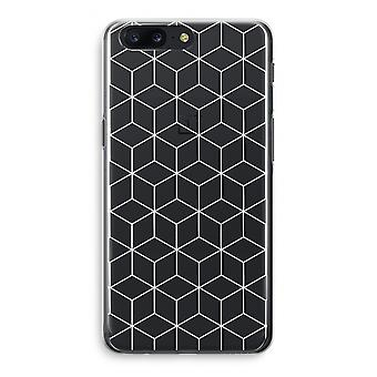 OnePlus 5 Transparant Case - Cubes black and white