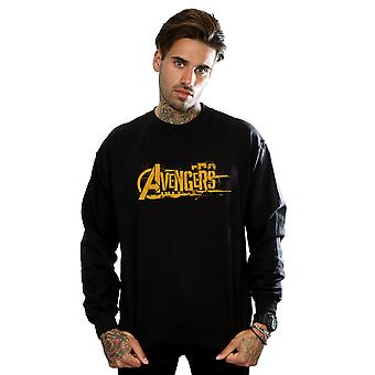 Avengers Men's Infinity War Orange Logo Sweatshirt