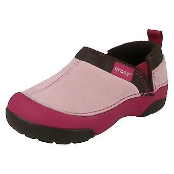 Girls Crocs Casual Flat Slip On Shoes Cunning Cameron