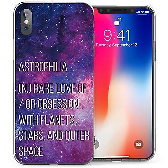 iPhone X Astrophilia цитата гель ТПУ - фиолетовый