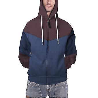 Assassins Creed Mens Hoodie Blue Brown Unity Official Zipped
