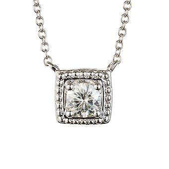 Forever Classic 4,5 mm Moissanite pendentif collier, 0,33 ct DEW tour