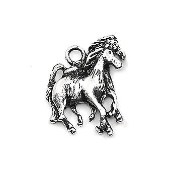 Packet 5 x Antique Silver Tibetan 19mm Horse Charm/Pendant ZX02520