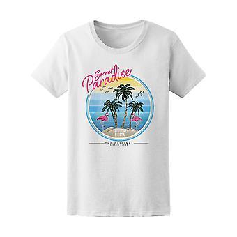 Secret Paradise Tropical Fiesta Tee Women's -Image by Shutterstock