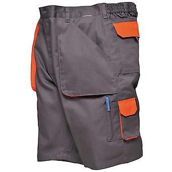 Portwest Mens Workwear Multi Pockets Cargo Combat Casual Contrast Shorts