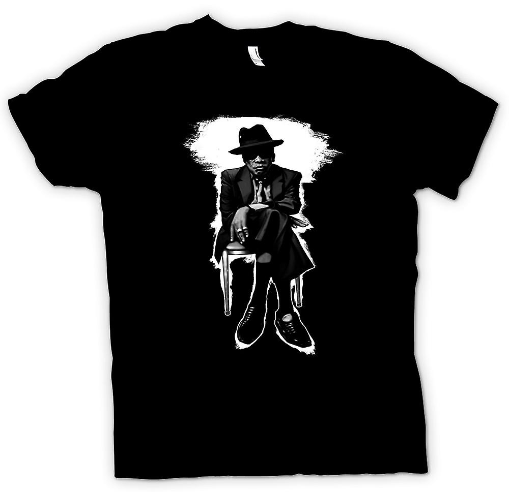 Womens T-shirt-John Lee Hooker Blues - BW - Pop-Art