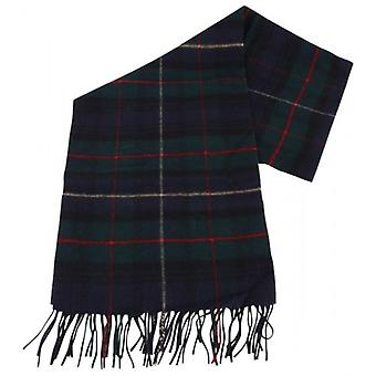 Bassin and Brown Goodlass Tartan Wool Scarf - Navy/Green