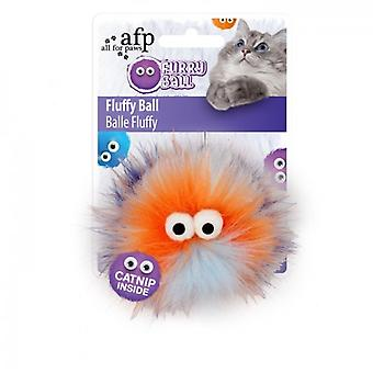 AFP Fluffy Ball Naranja Furry Ball (Cats , Toys , Teaser Wands)