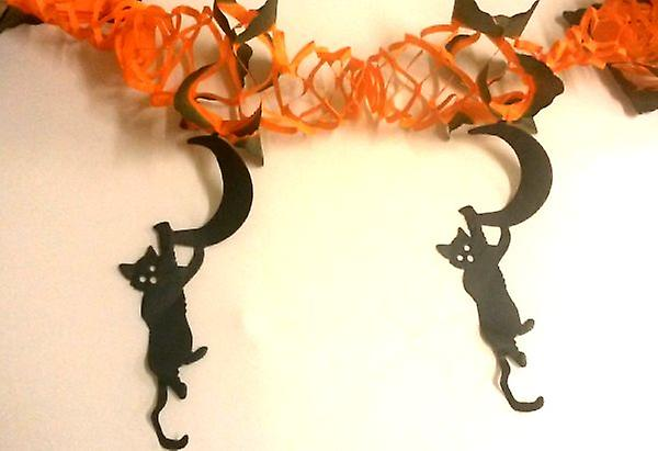 Paper Garland with Hanging Cats