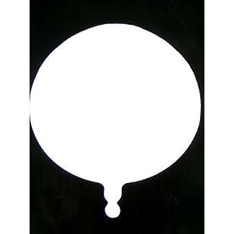 Foil Balloon Round Solid Metallic White