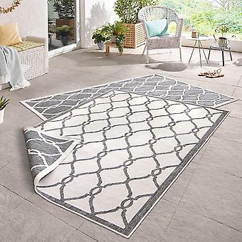 Drejning tæppe Rimini grå fløde i- & udendørs