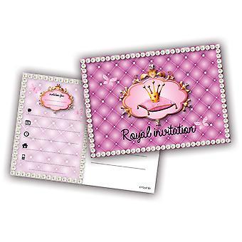 Invitation Invitationer prinsesse børn part invitation kort fødselsdag 6 stykker