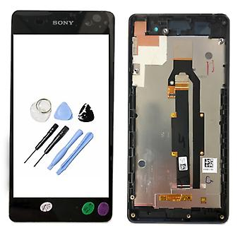 Sony display LCD complete unit with frame for Xperia E5 F3311 black spare parts