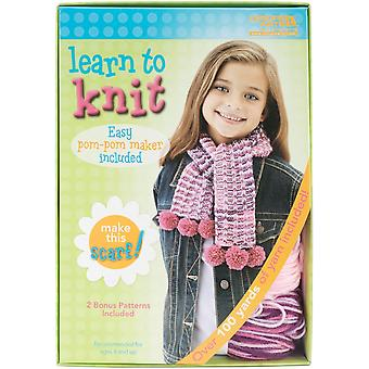 Learn To Knit Kit-Scarf