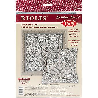 Pannel Viennese Lace Cushion Counted Cross Stitch Kit-15.75