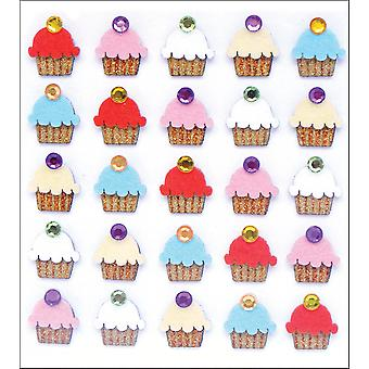 Jolee's Boutique Dimensional Stickers-Cupcakes