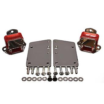 Energy Suspension 3.1149R GM LS Series Motor Mount Conversion Kit Red Incl. PN[3.1118] Tall And Narrow Mount 2 3/8x2 3/1