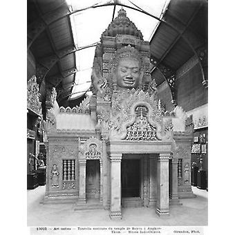Reconstructed turret, Temple of Bayon at.. - Art Canvas
