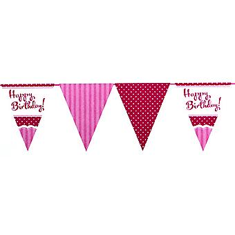 Empavesado de perfectamente rosa feliz cumpleaños fiesta creativa