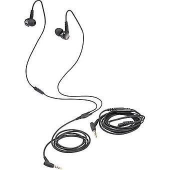 Renkforce GT300 Headphones In-ear Headset Black