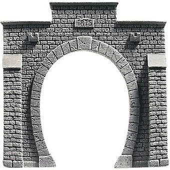 N Tunnel portal PROFI plus 1-track HR foam prefab, Painted NOCH 34851