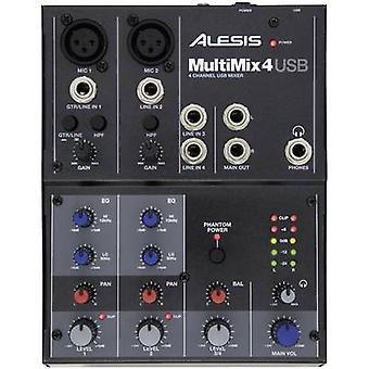 Alesis Multimix 4 USB Mischpult Nr. Kanäle: 4 USB-Ports