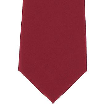 Michelsons of London Plain Silk Tie - Red