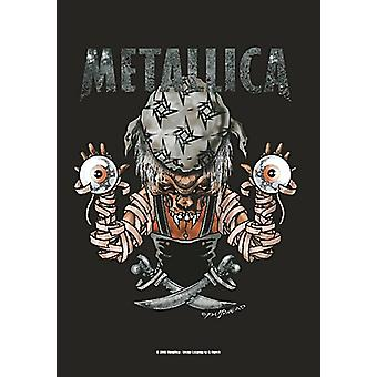Metallica Pirate Eyes Large Fabric Poster/ Flag 1100Mm X 700Mm