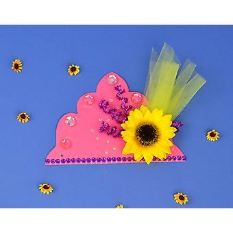 SALE - 12 Pink Card Tiara Bases to Decorate | Crown Making Crafts for Kids