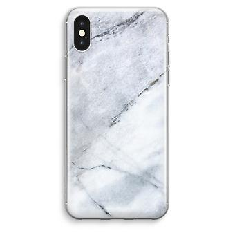 iPhone XS Max Transparent Case (Soft) - Marble white