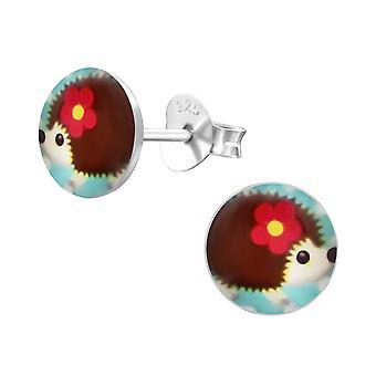 Egel - 925 Sterling Zilver kleurige Ear Studs