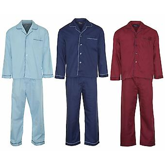 Champion Mens Button Front Pyjama Lounge Wear (Pack of 3)