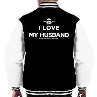 Original Stormtrooper Husband Lets Me Dress Up Men's Varsity Jacket