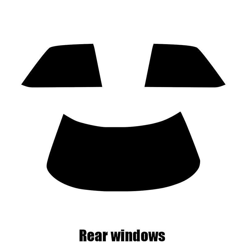 Pre cut window tint - Lexus ES 4-door Saloon - 1990 to 1991 - Rear windows