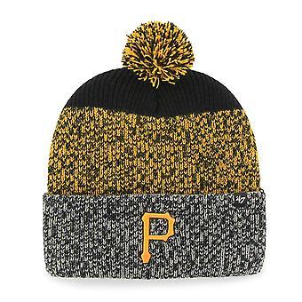 47 fire Knit Beanie - black cuff-Pittsburgh Pirates